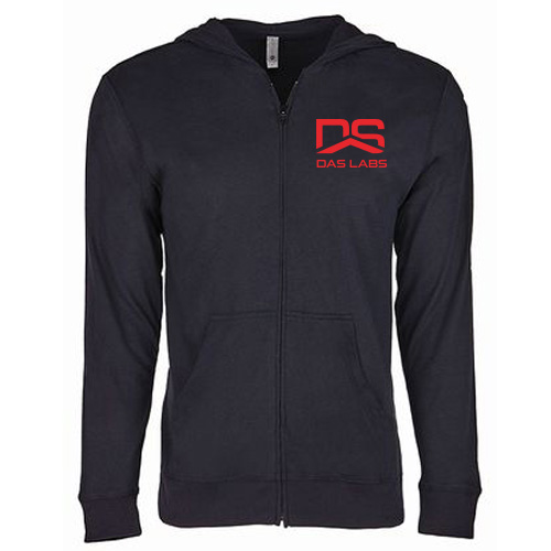 Mens DAS Sueded Light Weight Zip Hoodie