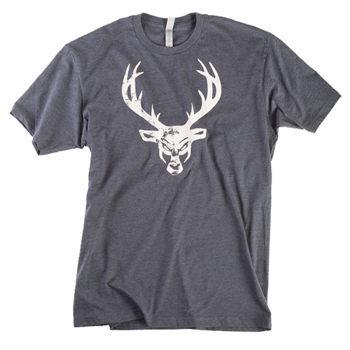 Mens Buck Shirt - Gray : White Distressed Logo