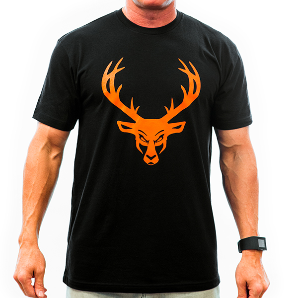 Mens Buck Shirt - Black : Orange Logo